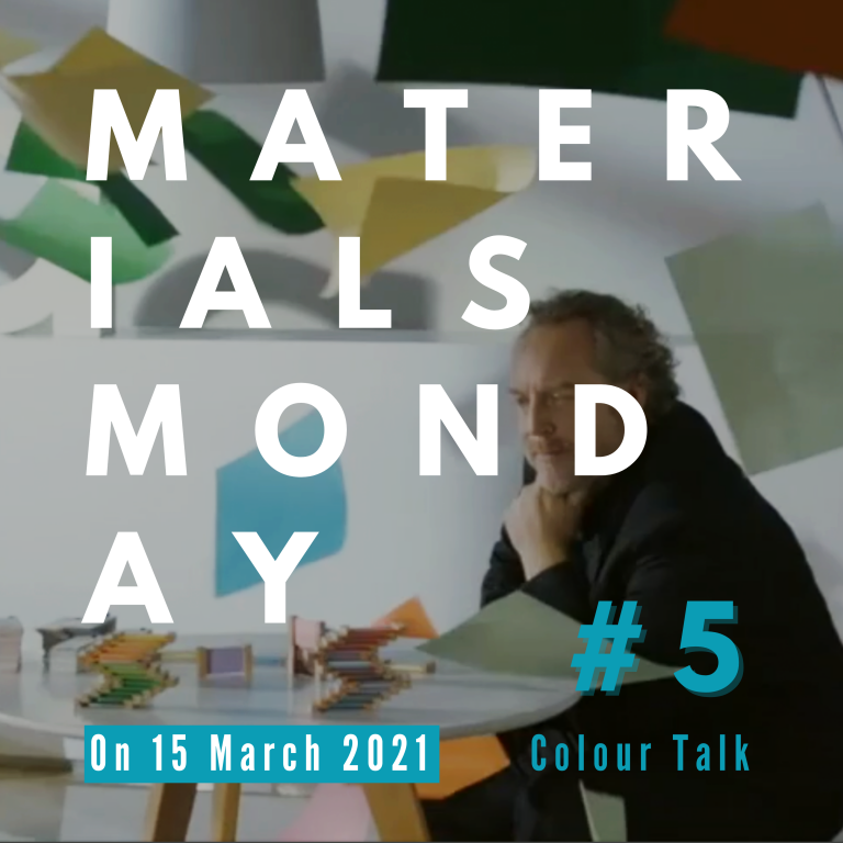 Materials Monday # 6 Colour Talk   with Karl Johan Bertilsson MRKRL, Stockholm